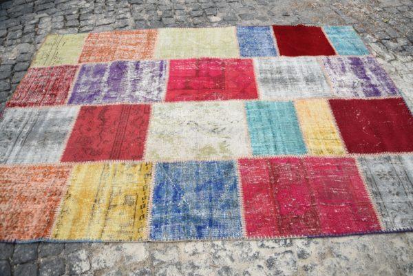 Vintage Patchwork Rug TR10654 Image 4