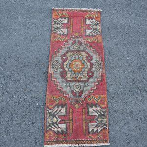 1.3 ft. x 3.6 ft. Vintage Turkish Rug TR46055 Image 1