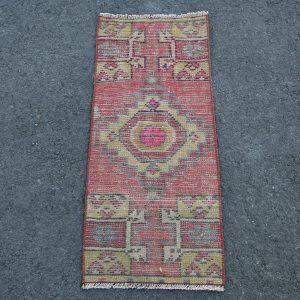 1.1 ft. x 2.6 ft. Vintage Turkish Rug TR46195 Image 1