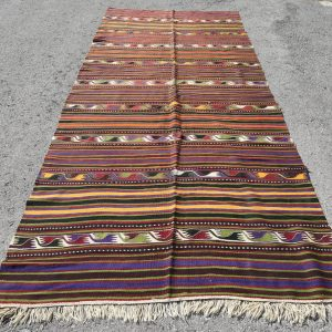 5 ft. x 11.5 ft. Vintage Kilim Rug TR46962 Image 1