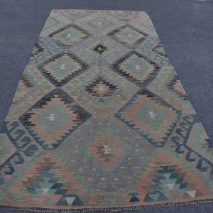 5 ft. x 10.7 ft. Vintage Kilim Rug TR48802 Image 1