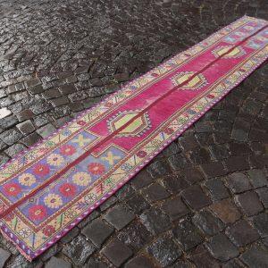 1.9 ft. x 9.5 ft. Vintage Patchwork Rug TR17924 Image 1