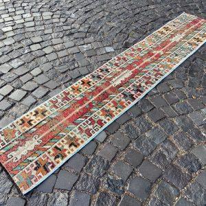 1.6 ft. x 8.3 ft. Vintage Patchwork Rug TR17944 Image 1
