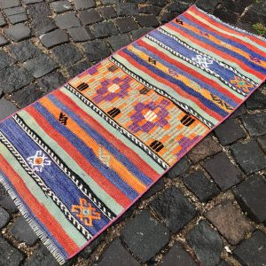 1.6 ft. x 3.6 ft. Vintage Kilim Rug TR49562 Image 1