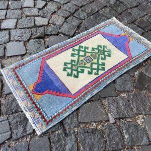 1.2 ft. x 2.6 ft. Vintage Turkish Rug TR54485 Image 1