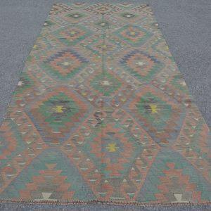 5 ft. x 10.7 ft. Vintage Kilim Rug TR51902 Image 1