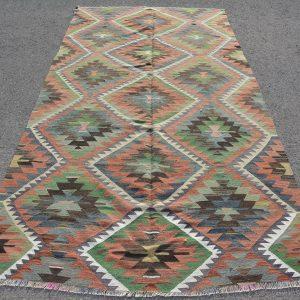 4.9 ft. x 12.5 ft. Vintage Kilim Rug TR51912 Image 1