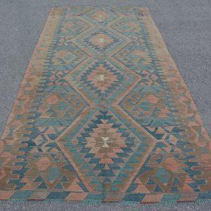 5 ft. x 10.7 ft. Vintage Kilim Rug TR52072 Image 1
