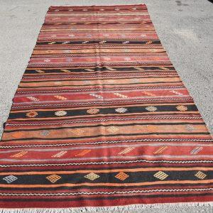 5.1 ft. x 11.1 ft. Vintage Kilim Rug TR52282 Image 1