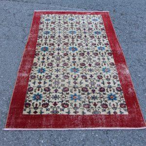 3.6 ft. x 6.9 ft. Vintage Turkish Rug TR03466 Image 1