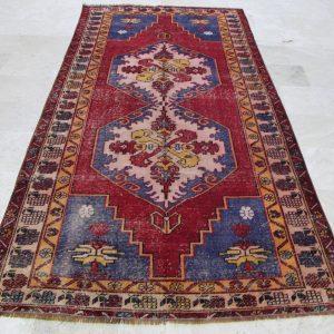 4.5 ft. x 9.5 ft. Vintage Turkish Rug TR04636 Image 1