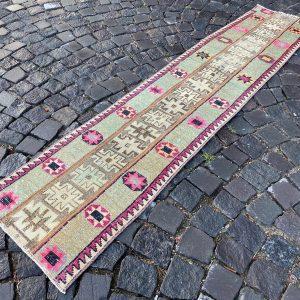 1.6 ft. x 7.3 ft. Vintage Patchwork Rug TR19794 Image 1