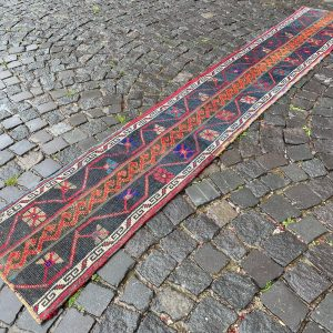 1.6 ft. x 9.7 ft. Vintage Patchwork Rug TR19904 Image 1