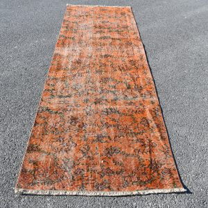 2.8 ft. x 9.4 ft. Vintage Overdyed Rug TR25043 Image 1