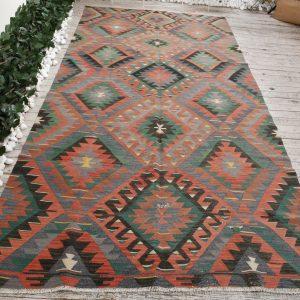 5.1 ft. x 10.2 ft. Vintage Kilim Rug TR54512 Image 1