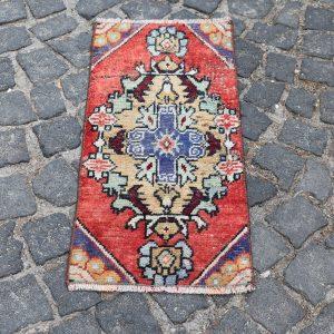 1.2 ft. x 2.7 ft. Vintage Turkish Rug TR18596 Image 1